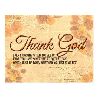 Thank God Postcard