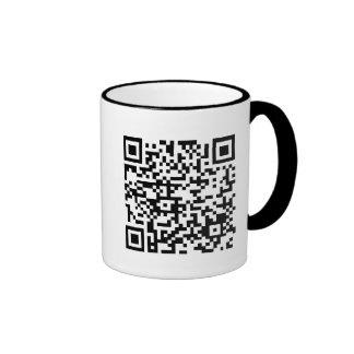 Thank God the boss can't read QR! Ringer Coffee Mug