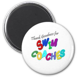 Thank Goodness for Swim Coaches Fridge Magnets