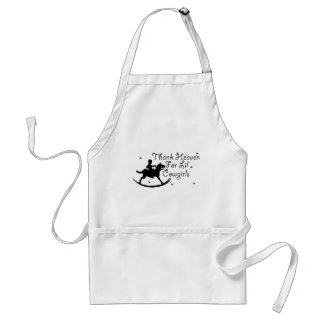 Thank Heaven For Lil' Cowgirls Adult Apron