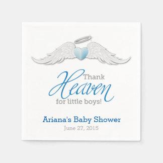 Thank Heaven for Little Boys Baby Shower Napkins
