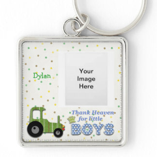 Thank Heaven for Little Boys Keychain