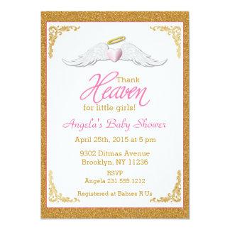 Thank Heaven for Little Girls Baby Shower Card