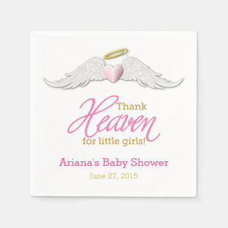 Thank Heaven for Little Girls Baby Shower Napkins