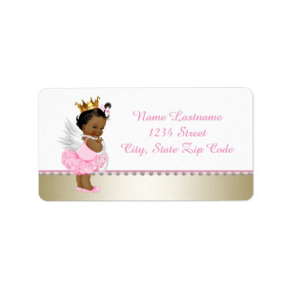 Thank Heaven for Little Girls Ethnic Angel Label