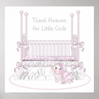 Thank Heaven For Little Girls Nursery Art Poster