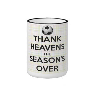 Thank Heavens the Season is Over Ringer Coffee Mug