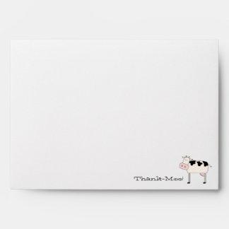 Thank-Moo! Customized Envelope