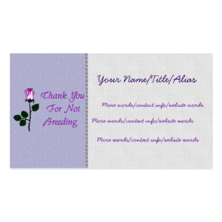 Thank Non-Breeders Double-Sided Standard Business Cards (Pack Of 100)