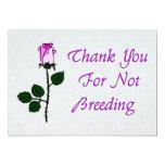 Thank Non-Breeders Custom Invitations
