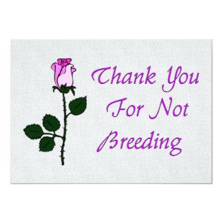 """Thank Non-Breeders 5"""" X 7"""" Invitation Card"""