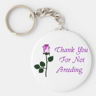 Thank Non-Breeders Keychain