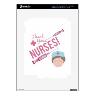 Thank Nurses Decals For iPad 3