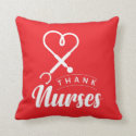 Thank Nurses Throw Pillow