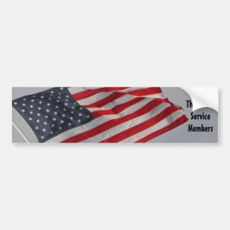 Thank our Service Members Bumper Sticker