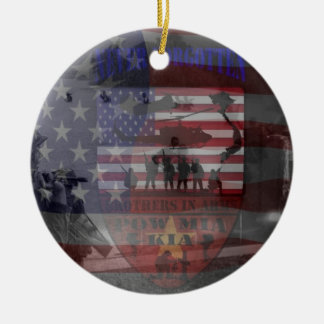 Thank the good Viet Nam of veteran Double-Sided Ceramic Round Christmas Ornament