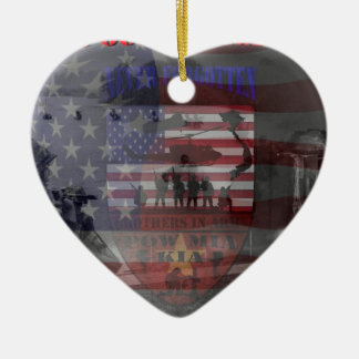 Thank the good Viet Nam of veteran Double-Sided Heart Ceramic Christmas Ornament