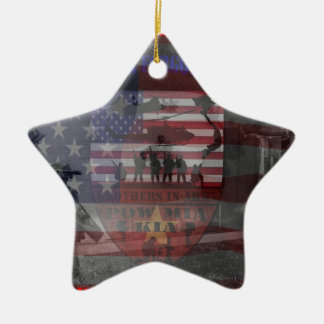 Thank the good Viet Nam of veteran Double-Sided Star Ceramic Christmas Ornament