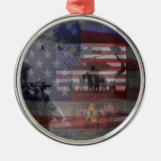 Thank the good Viet Nam of veteran Round Metal Christmas Ornament