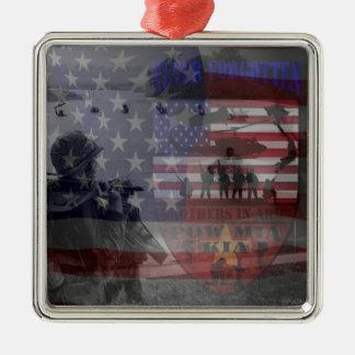 Thank the good Viet Nam of veteran Square Metal Christmas Ornament