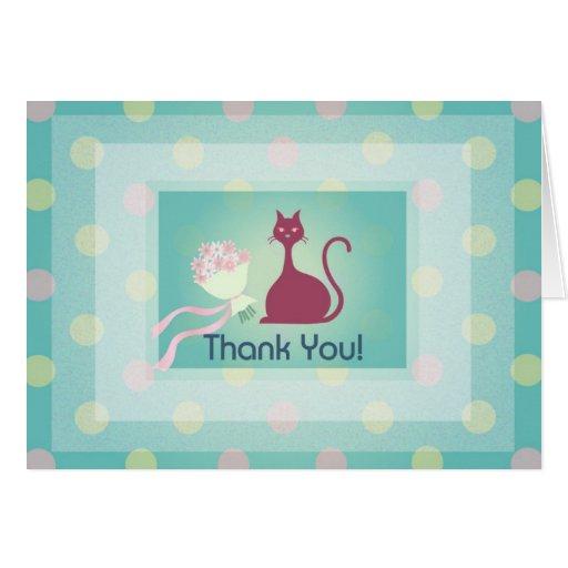 U Card Thank U Card (Cat Desi...