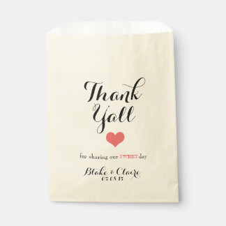 Thank Y'all for Sharing our Sweet Day Favor Bag