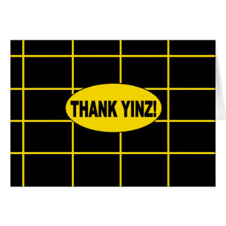 Thank Yinz Gold Centered Greeting Card