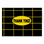 THANK YINZ note inner blank Card