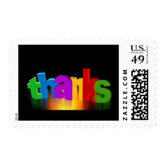 thank-you-140227 le agradecen ponen letras para estampilla