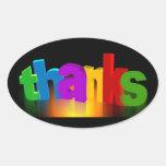 thank-you-140227 le agradecen ponen letras para pegatina ovalada