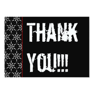 Thank You 16th Surprise Party Black White Red B Card