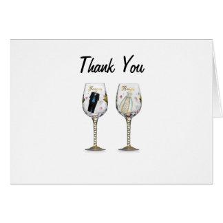 """THANK YOU"" 25 WEDDING ANNIVERSARY CARD"
