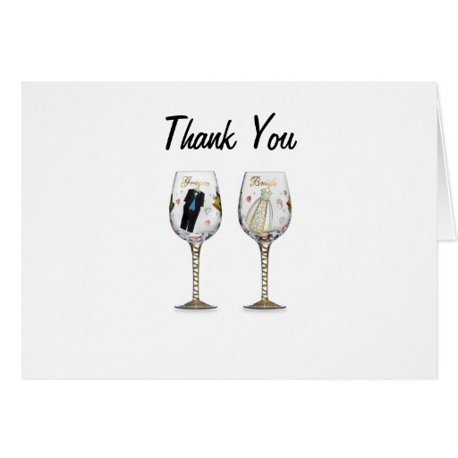 Quot thank you wedding anniversary cards zazzle