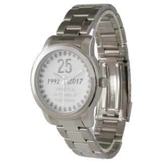Thank You 25th Anniversary Employee Work Watch