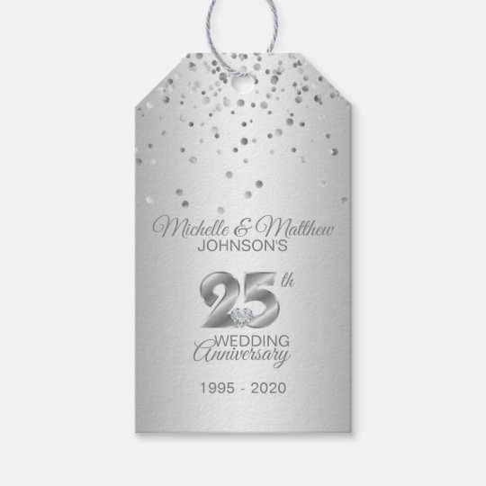 sc 1 st  Zazzle & Thank You 25th Year Silver Wedding Anniversary Gift Tags   Zazzle.com