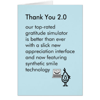 Thank You 2.0 - a funny thank you poem Card