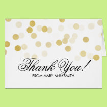 """Thank you"" 30th Birthday Gold Foil Glitter Lights Card"