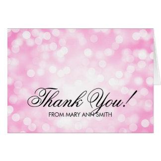 """Thank you"" 30th Birthday Pink Glitter Lights Greeting Card"