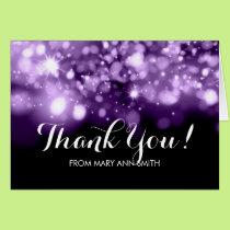 Thank you 30th Birthday Purple Sparkling Lights Card