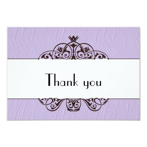 Thank you 3.5x5 paper invitation card