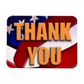 """THANK YOU 3""""x4"""" Photo Magnet"""