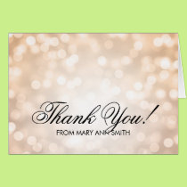 """Thank you"" 40th Birthday Copper Glitter Lights Card"