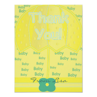 Thank You 4.25x5.5 Paper Invitation Card