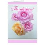 thank you 4 roses notecard card