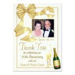 "Thank You 50th Anniversary Gift - Flat photo card 5"" X 7"" Invitation Card"
