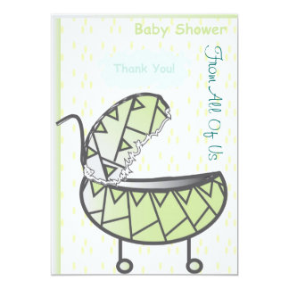 Thank You 5x7 Paper Invitation Card