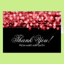 """Thank you"" 60th Birthday Party Sparkles Red Card"