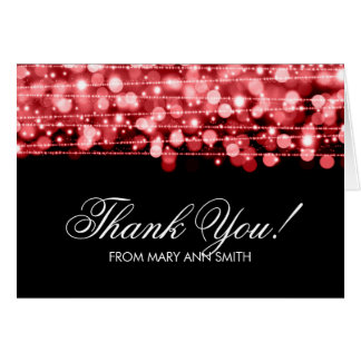 """""""Thank you"""" 60th Birthday Party Sparkles Red Card"""