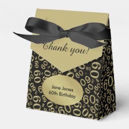 Thank You: 60th Birthday Theme Gold/Black Favor Box