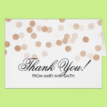 Thank you 80th Birthday Copper Foil Glitter Lights Card